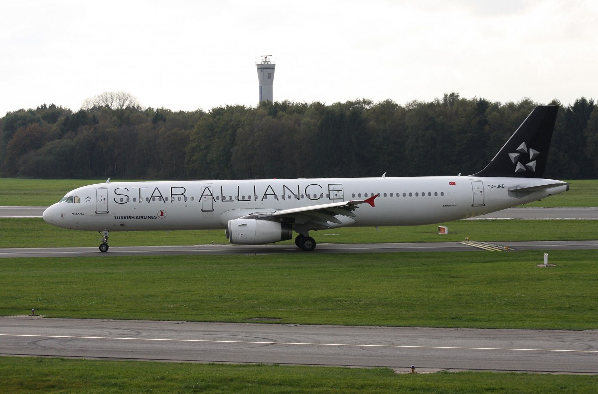 Turkish Airlines, TC-JRB,(c/n 2868),Airbus A 321-231, 24.10.2014, HAM-EDDH, Hamburg, Germany (livery:STAR ALLIANCE)