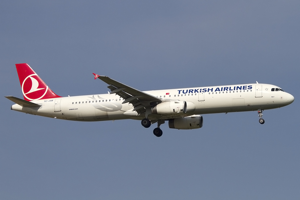turkish airlines tc jsb airbus a321 231 bru br ssel belgium flugzeug. Black Bedroom Furniture Sets. Home Design Ideas
