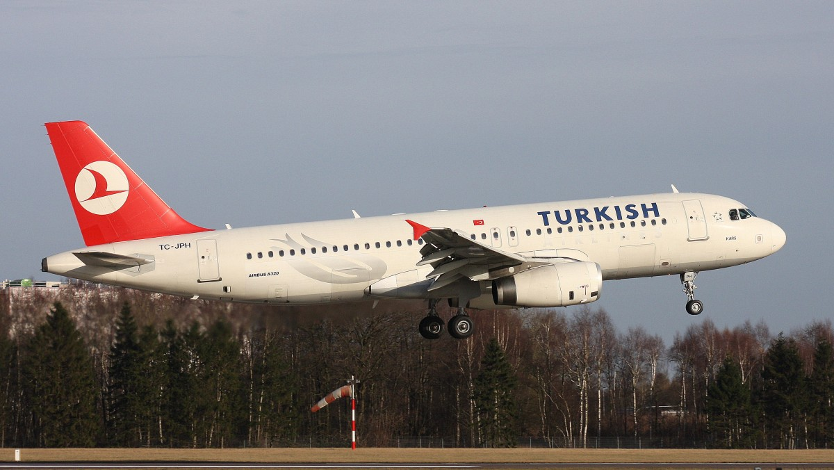Turkish Airlines,TC-JPH,(c/n3185),Airbus A320-232,02.02.2014,HAM-EDDH,Hamburg,Germany