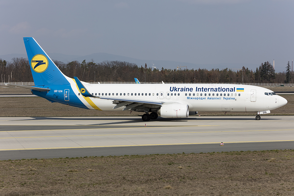 Ukraine International Airlines, UR-UIA, Boeing, B737-8KV, 31.03.2019, FRA, Frankfurt, Germany