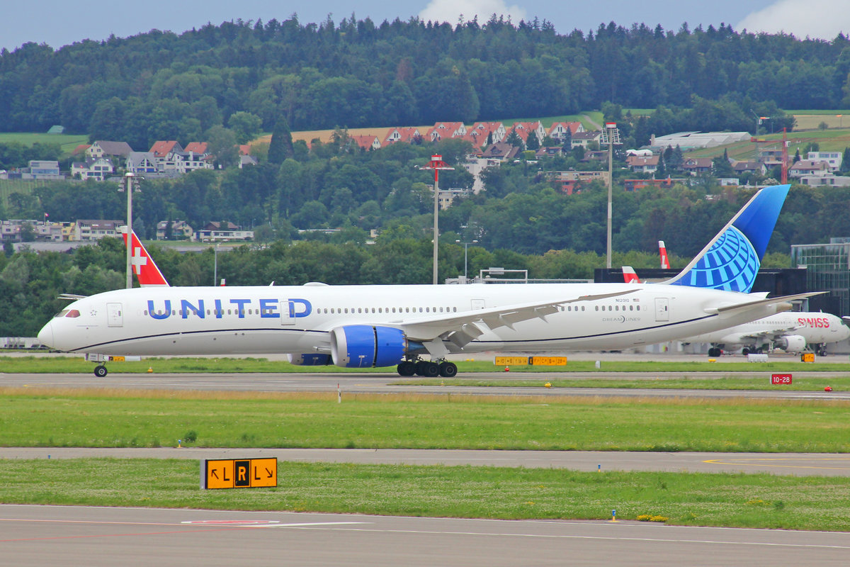 United Airlines, N12010, Boeing 787-10, msn: 40926/948, 28.Juni 2020, ZRH Zürich, Switzerland.