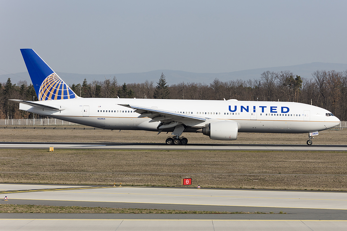 United Airlines, N228UA, Boeing, B777-222-ER, 31.03.2019, FRA, Frankfurt, Germany