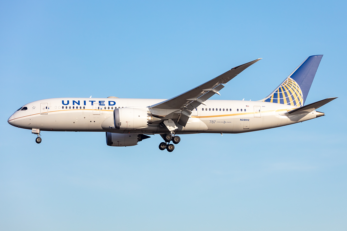United Airlines, N28912, Boeing, B787-8, 21.02.2021, FRA, Frankfurt, Germany