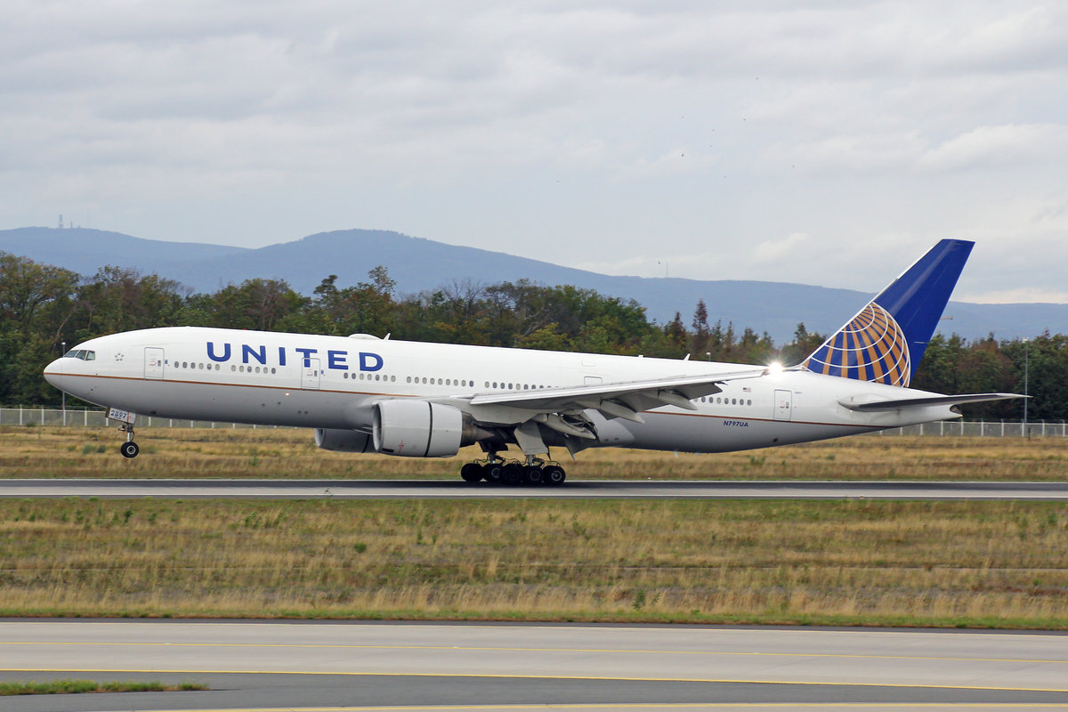 United Airlines, N797UA, Boeing B777-222ER, msn: 26924/116, 29.September 2019, FRA Frankfurt, Germany.