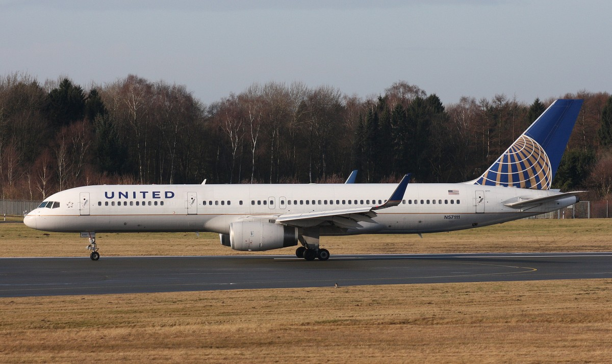 United Airlines,N57111,(c/n27301),Boeing 757-224(WL),22.02.2014,HAM-EDDH,Hamburg,Germany