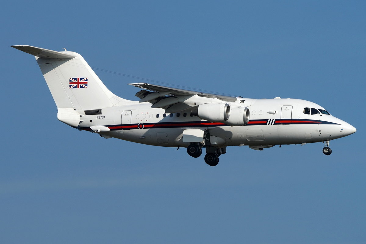 United Kingdom - Royal Air Force, BAe 146-100 Statesman ZE701, cn(MSN): E1029,