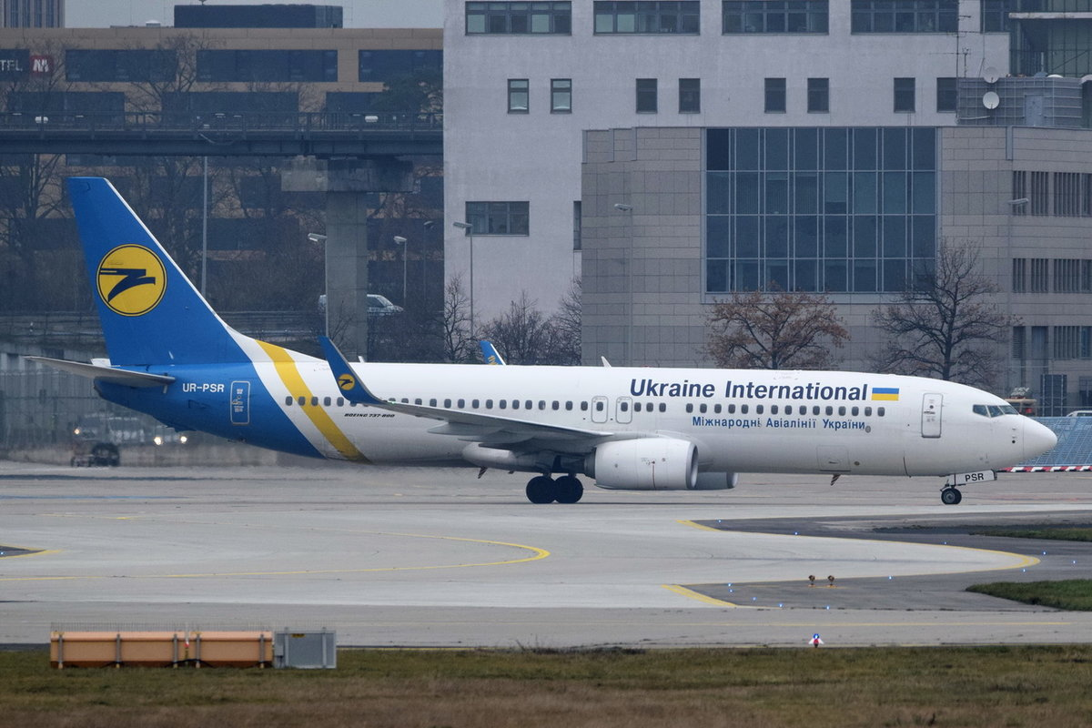 UR-PSR Ukraine International Airlines Boeing 737-8KV(WL)  , FRA , 06.12.2017