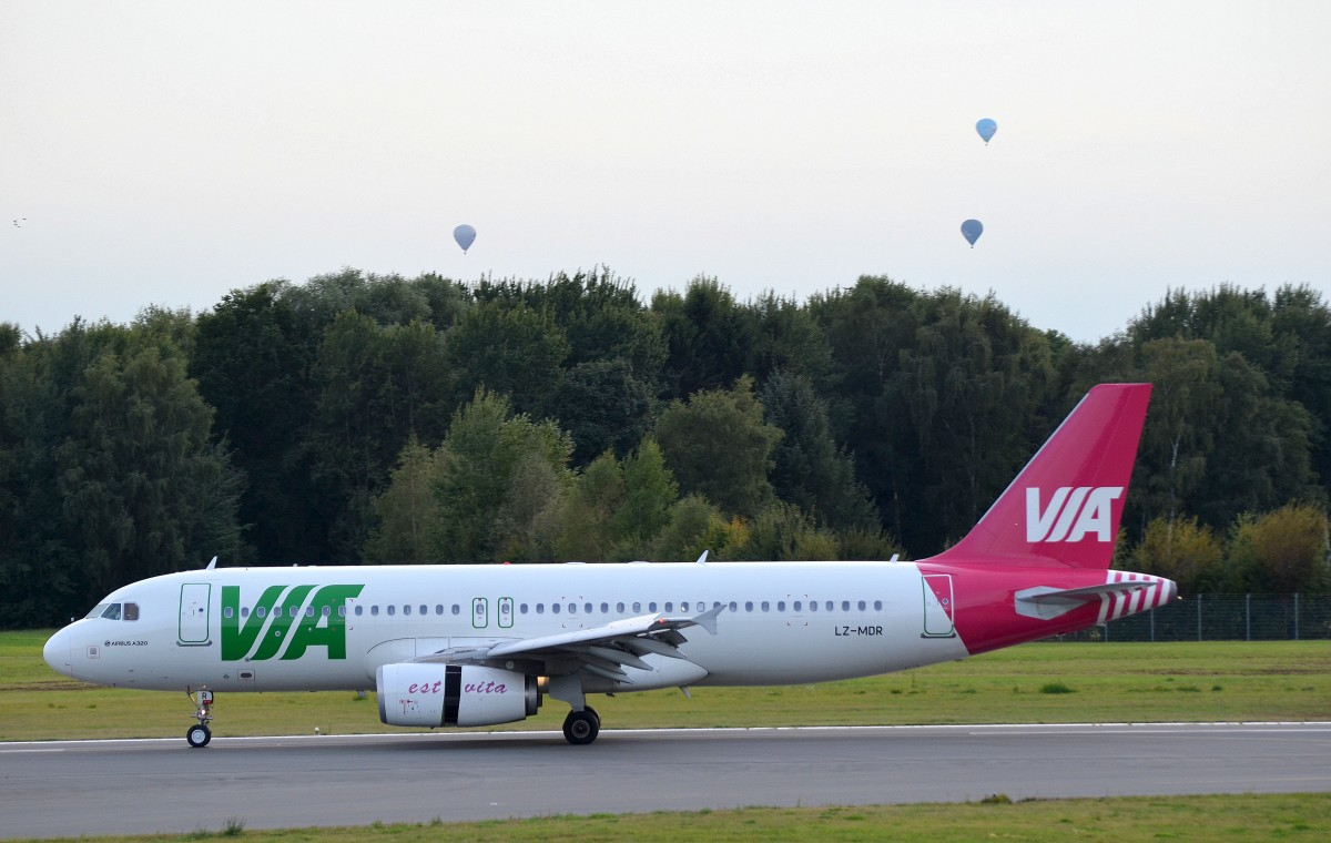 VIA Bulgarian Airways Airbus A320 LZ-MDR in Hamburg Fuhlsbüttel aufgenommen am 28.08.14