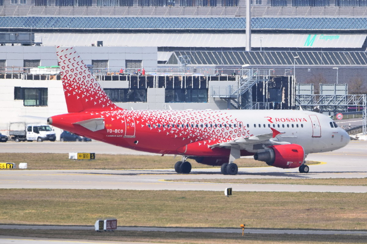 VQ-BCO Rossiya - Russian Airlines Airbus A319-111 , 29.03.2019 , MUC