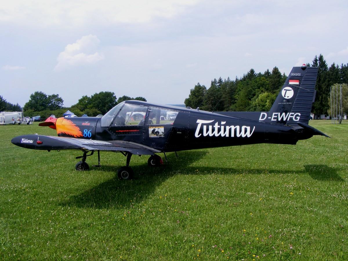 Zlin 43,D-EWFG (ex.DDR-WFG),Flugplatz Rudolstadt