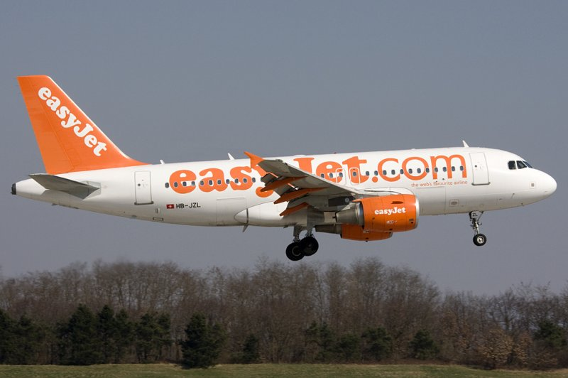 Easy Jet, HB-JZL, Airbus, A319-111, 22.03.2009, BSL, Basel, Switzerland