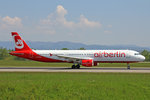 Air Berlin, D-ALSA, Airbus A321-211,  8.Mai 2016, BSL Basel, Switzerland.