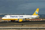 Thomas Cook Powered by Condor, D-AICE, Airbus A320-212, 6.Dezember 2003, ACE Lanzarote, Spain.