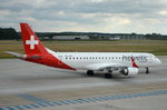 HB-JVQ Helvetic Airways Embraer ERJ-190LR (ERJ-190-100 LR)  am 01.07.2016 in Rostock-Laage zum Start