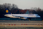 Lufthansa A 320-214 D-AIUL kurz vor dem Start in Berlin-Tegel am 09.01.2016