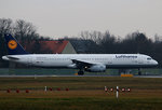 Lufthansa A 321-231 D-AISQ  Lindau  kurz vor dem Start in Berlin-Tegel am 05.02.2016