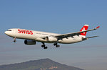 SWISS International Air Lines, HB-JHD, Airbus A330-343,  St.Gallen , 28.April 2016, ZRH Zürich, Switzerland.