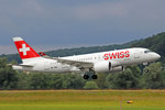 SWISS Global Air Lines, HB-JBA, Bombardier CS-100,  Kanton Zürich , 15.Juli 2016, ZRH Zürich, Switzerland.
