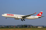 SWISS International Air Lines, HB-JHC, Airbus A330-343X,  Bellinzona , 31.August 2016, ZRH Zürich, Switzerland.