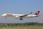 SWISS International Air Lines, HB-JHK, Airbus A330-343X,  Herisau , 13.September 2016, ZRH Zürich, Switzerland.