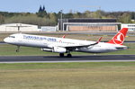 TC-JSY Turkish Airlines Airbus A321-231(WL)  beim Start am 20.04.2016 in Tegel
