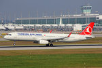 Turkish Airlines, TC-JSK,, Airbus A321-231 SL,  Kula , 25.September 2016, MUC München, Germany.