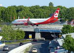 Air Berlin, B 737-86J, D-ABKP in Berlin -Tegel im Mai 2015.