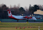 Air Berlin DHC-8-402Q D-ABQG kurz vor dem Start in Berlin-Tegel am 06.12.2015