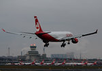 Air Berlin A 330-223 D-ALPI bei der Landung in Berlin-Tegel am 19.12.2015