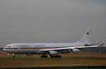 Germany Air Force A 340-313X 16+02 kurz vor dem Start in Berlin-Tegel am 19.12.2015