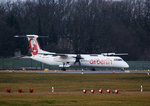 Air Berlin DHC-8-402Q D-ABQQ kurz vor dem Start in Berlin-Tegel am 05.02.2016