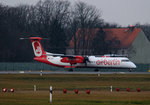 Air Berlin DHC-8-402Q D-ABQH kurz vor dem Start in Berlin-Tegel am 05.02.2016