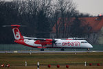 Air Berlin DHC-8-401Q D-ABQB kurz vor dem Start in Berlin-Tegel am 05.02.2016