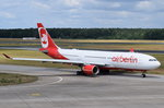 D-ALPG Air Berlin Airbus A330-223  in Tegel zum Start am 07.07.2016