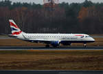 British Airways CityFlyer, ERJ-190-100SR, TXL, 25.11.2016