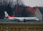 Etihad Regional Saab 2000 HB-IYI kurz vor dem Start in Berlin-Tegel am 05.02.2016