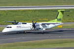 Bombardier-DHC 8-102 Q 400, Air Baltic, YL-BAI, taxy in DUS - 01.10.2015