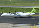Bombardier DHC-8-402 Q 400, VL-BAI, Air Baltic taxy in DUS - 01.10.2015