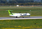 Bombardier - DHC-8-402 Q 400, VL-BAI, Air Baltic touchdown in DUS - 01.10.2015