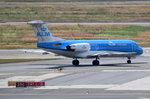 PH-KZB KLM Cityhopper Fokker F70  zum Start in Frankfurt am 01.08.2016