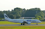 Finnair Embraer 190 OH-LKN (member of one World Sticker) beim Start in Hamburg Fuhlsbüttel am 22.06.16