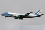 U. S. Air Force One VC-25 B747-200 92-9000 im Anflug auf 27R in HAJ / EDDV / Hannover am 24.04.2016