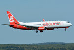 B 737-800 Air Berlin D-ABKM, short final CGN - 05.05.2016