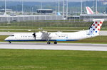 9A-CQB Croatia Airlines De Havilland Canada DHC-8-402Q Dash 8   vor dem Start am 15.05.2016 in München