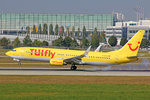 TUIfly, D-ATUA, Boeing 737-8K5, 25.September 2016, MUC München, Germany.