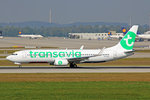 Transavia, PH-HXE, Boeing 737-8K2, 25.September 2016, MUC München, Germany.