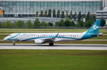 I-ADJS Air Dolomiti Embraer ERJ-195LR (ERJ-190-200 LR)  beim Start in München am 20.05.2016