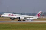Qatar Airways, A7-ALJ, Airbus A350-941, 25.September 2016, MUC München, Germany.