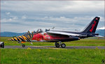 Red Bull OE- FAS, Alpha Jet; Flying Bulls Trainings Camp auf Maribor Flughafen MBX. /14.4.2016