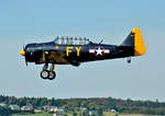 North American AT-6A Texan, N13FY, short final in Wershofen - 03.09.2016